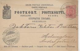 AK 0132  Postkort Finland Nach Helsinki Am 23. 10 1896 - 1856-1917 Russische Verwaltung