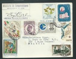 Lsc De Colombie Pour La France En 1964 Avec Affranchissement Philatélique      Bb15901 - Colombie