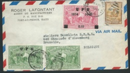 Lsc De Haiti Pour La Belgique En 1950     Bb15902 - Haïti