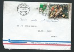 Lsc Du Gabon  AFFRANCHIE POUR PARIS EN 1978  Bb15913 - Gabon (1960-...)