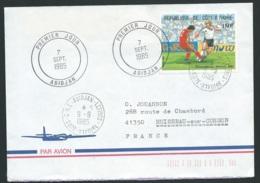 Lsc DE COTE D'IVOIRE     AFFRANCHIE POUR LA FRANCE   EN 1985   Bb15918 - Côte D'Ivoire (1960-...)