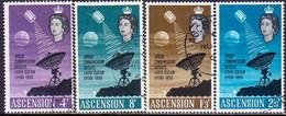 ASCENSION 1966 SG #99-102 Compl.set Used Satellite Earth Station - Ascension