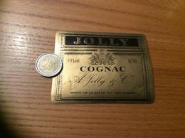 Etiquette «COGNAC A. Jolly & Co» Importation CESVA - CHARLEROI (Belgique) - Etiquettes