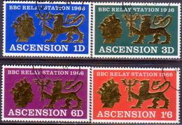 1966 ASCENSION SG #103-106 Compl.set Used BBC Relay Station - Ascension (Ile De L')