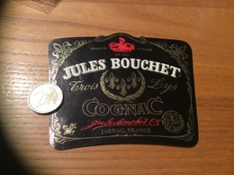 Etiquette «COGNAC - JULES BOUCHET - Trois Lys - JARNAC (16)» - Etiquettes