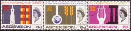1967 ASCENSION SG #107-109 Compl.set Used UNESCO - Ascension (Ile De L')