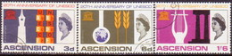 ASCENSION 1967 SG #107-109 Compl.set Used UNESCO - Ascension