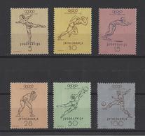 YOUGOSLAVIE. YT   N° 611/616  Neuf **  1952 - Neufs