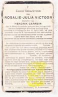 DP Rosalie J. Victoor ° Westrozebeke Staden 1836 † Poelkapelle 1922 X H. Carrein - Images Religieuses