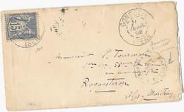 ISERE ( 37 ) « GONCELIN » LSI - 15g.-  Tarif à 15c. (1.5.1878/15.4.1906) N°101 Type IIE -  15c. SAGE - Marcophilie (Lettres)