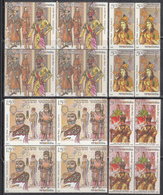 INDIA 2018, Indian Fashion Through The Ages, Set 4v Complete In Blocks Of 4,  MNH (**) - India
