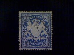 Germany (Bavaria), Scott #64, Used (o), 1888, Coat Of Arms, 20pfs, Ultramarine - Bavaria