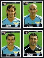 FOOTBALL - PANINI - CALCIATORI 2004/2005 - LAZIO - INZAGHI / DI CANIO / ZAURI / PERUZZI - STICKERS - Calcio
