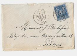 CALVADOS ( 13 ) « PONTFARCY » LSI - 15g.-  Tarif à 15c. (1.5.1878/15.4.1906) N°90 Type IIB -  15c. SAGE - Marcophilie (Lettres)