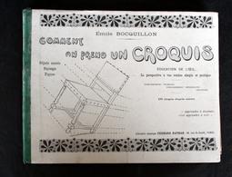 Prendre Un Croquis Par E.BOCQUILLON école De Guichainville Prés Evreux - Books, Magazines, Comics