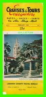 LIVRES - CRUISES & TOURS EVERYWHERE, 1948 - LEBANON COUNTY TRAVEL BUREAU, PA - 48 PAGES - - Exploration/Travel