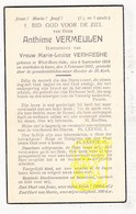 DP Anthime Vermeulen ° Westrozebeke Staden 1886 † Ieper 1937 X Marie L. Verhaeghe - Images Religieuses