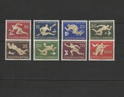 Yugoslavia 1956 Olympic Games Melbourne, Football Soccer, Table Tennis Etc. Set Of 8 MNH -scarce- - Ete 1956: Melbourne