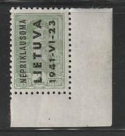LITUANIE - OCCUPATION ALLEMANDE - N° 1 ** (1941) - Litauen