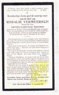 DP Rosalie Vermeersch ° Westrozebeke Staden 1845 † Sint-Joris-ten-Distel Beernem 1920 X Carolus L. Opsomer - Images Religieuses