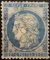 FRANCE Y&T N°60C Cérès 25c Bleu. Oblitéré étoile De Paris N°8 - 1871-1875 Cérès
