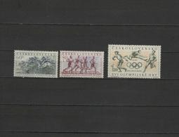 Czechoslovakia 1956 Olympic Games Melbourne, Equestrian, Marathon Etc. Set Of 3 MNH - Ete 1956: Melbourne