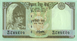 Nepal 10 Rupee (P31b) 1987 Sign 13 -UNC- - Népal