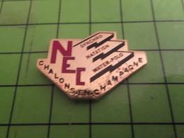 1218c Pin's Pins / Beau Et Rare : Thème SPORTS / CLUB NATATION CHALONS EN CHAMPAGNE NEC WATER-POLO - Swimming