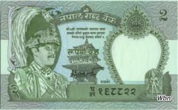 Nepal 2 Rupee (P29b) 1981 Sign 14 -UNC- - Népal