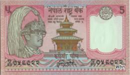 Nepal 5 Rupee (P30a) 1987 Sign 13 -UNC- - Népal