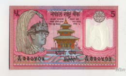 Nepal 5 Rupee (P30a) 1987 Sign 14 -UNC- - Népal