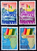 1960 République De Guinée 4 Valeurs Drapeaux Oblitérés - Guinea (1958-...)