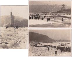 3 Cartes-photos. COBLENTZ. Le Rhin Gelé. Janvier 1929 - Koblenz