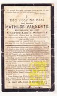 DP Mathilde VanNeste ° Staden 1847 † Boezinge Ieper 1925 X Charles L. Schacht - Images Religieuses