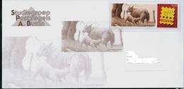 Carte Voeux Pour 2007 (Mouton Et Petit) Avec Duostamp Dans Bande Hawid - 1985-.. Oiseaux (Buzin)