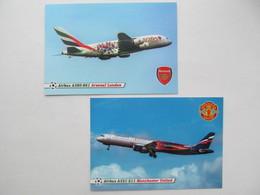 England. Arsenal / Emirates And Manchester United / Aeroflot Airbus - 1946-....: Era Moderna