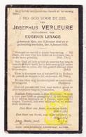DP Josephus Verleure ° Ieper 1842 † 1931 X Eugenia Lesage - Images Religieuses