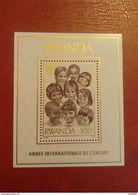 Rwanda 1979 - International Year Of The Child Perf Sheet Mi 86A MNH - Children Drawings - Rwanda