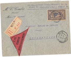 ALGERIE – Dpt. De Constantine « MILA » LRI  1er Ech. – Tarif « Contre Remboursement » à 60c. - Algérie (1924-1962)