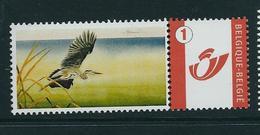 Duostamp  Neuf (**)   Avec N° 3700 (logo Poste Et Chiffre 1) - 1985-.. Oiseaux (Buzin)