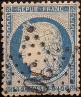 FRANCE Y&T N°60C Cérès 25c Bleu. Oblitéré étoile De Paris N°30 - 1871-1875 Cérès