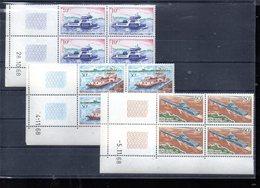 CENTRAFRIQUE 112/114** EN BLOC COIN DATE SUR LES BACS DE RIVIERE - Centrafricaine (République)
