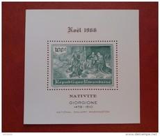 Rwanda 1968 - Christmas - Perf Sheet Deluxe - Mi 18 A MNH - Masters Art Paintings Luxe Giorgione Noel - Rwanda