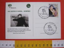 A.03 ITALIA ANNULLO - 2017 SALUZZO CUNEO ANA ALPINI RADUNO ONORE CADUTI DELLA CUNEESE 1944 RUSSIA DON GNOCCHI ESERCITO - Seconda Guerra Mondiale