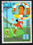 GUINEE EQUATORIALE. Timbre Oblitéré De 1974. Munich'74/Eusebio. - Coppa Del Mondo