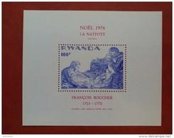 Rwanda 1976 - Christmas - Perf Sheet Deluxe - Mi 73 A MNH - Masters Art Paintings Luxe Boucher Noel - Rwanda