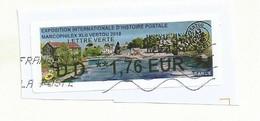 VIGNETTE LISA   MARCOPHILEX VERTOU 2018  OBLITEREE SUR FRAGMENT - 2010-... Illustrated Franking Labels