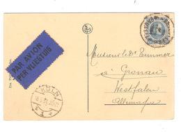 PR6210/ TP 207 Albert Houyoux S/CP Antwerpen De Keyserlei Avion C.BXL 1934 V.Allemagne C.d'arrivée Köln - Postmark Collection