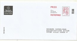 POSTREPONSE PRIO  SECOURS  CATHOLIQUE   LOT  182201 - Entiers Postaux