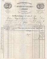 Facture MONTGOLFIER - SAINT MARCEL LES ANNONAY - 1877 (Fabricant De La Montgolfière) .  (111215) - 1800 – 1899